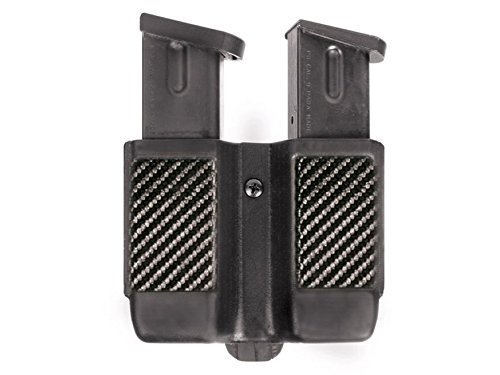 BLACKHAWK! Double Stack Double Mag Case (9 mm, 10mm, .40 Cal, and .45 Cal), Carbon Fiber