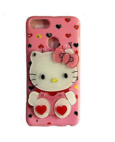 low cost 31d4b e0d7f ANVIKA 3D Cute Mirror Hello Kitty Silicone with Pendant Back Case Cover for  Honor 7X