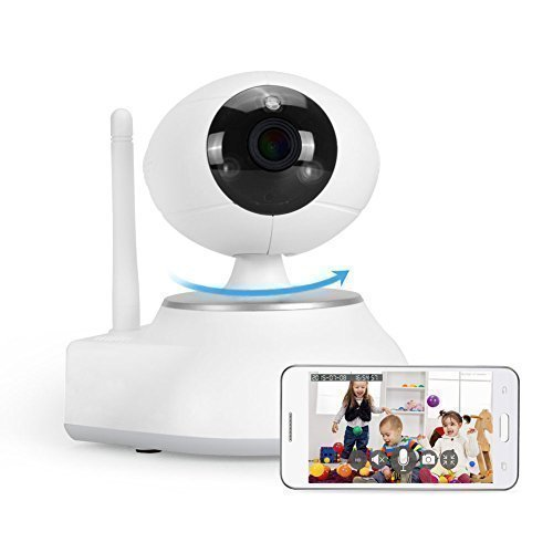 IdeaNext Network Pan&Tilt IP Security Surveillance Camera Wireless Baby Monitor HD 720p 1.3mp 3 Million Pixels IPCAM Night Vision/ /2-way Audio/ SD Video Record /Motion Detection/Remote Viewing