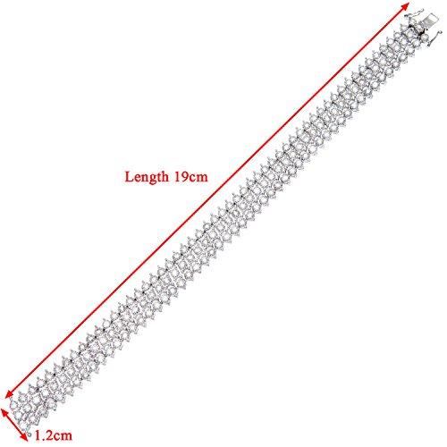 Revoni Bague en or blanc 9carats-Diamant Bracelet