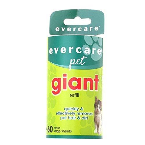 Evercare Pet Bundle  Giant Pet Roller REFILLS - 6 Pack, Dark Green