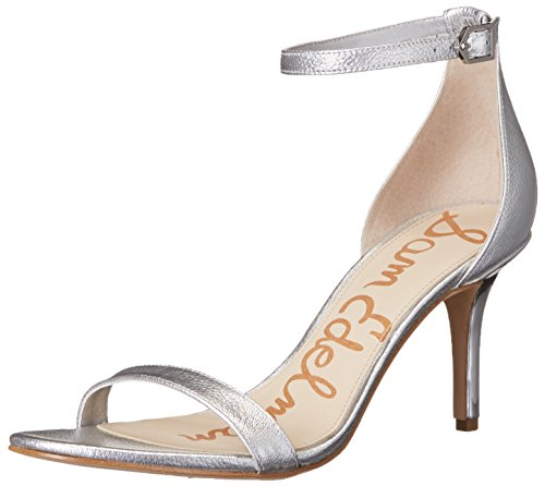 Sam Edelman Sandalias de vestir, Mujer Soft Silver/Metallic Leather