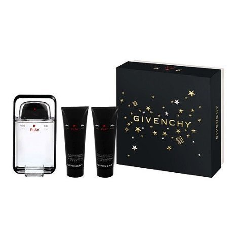Givenchy Play 3Pcs Gift Set [ 3.4Oz Edt Spray, 1.7Oz Hair Body Shower Gel, 1.7Oz After Shave Balm] Men