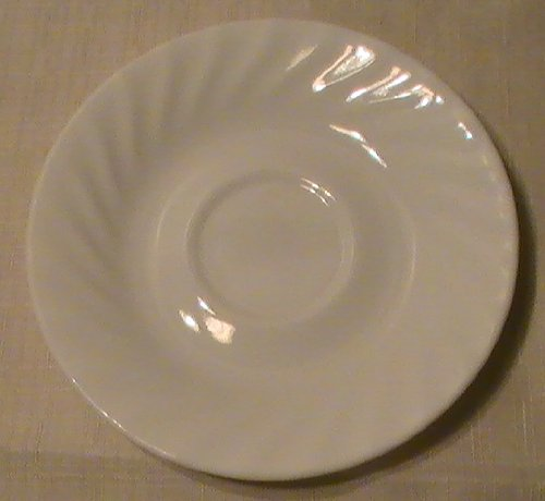 Corning Corelle Enhancement (White Swirl) Saucers - Set of 4