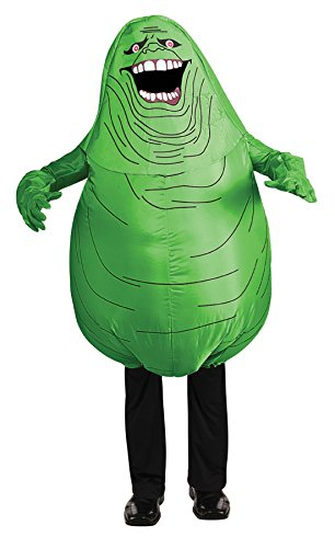 Rubie's Boy's Inflatable Slimer Ghostbusters Funny Theme Fancy Dress Child Costume, Child (Up to 10) Green -
