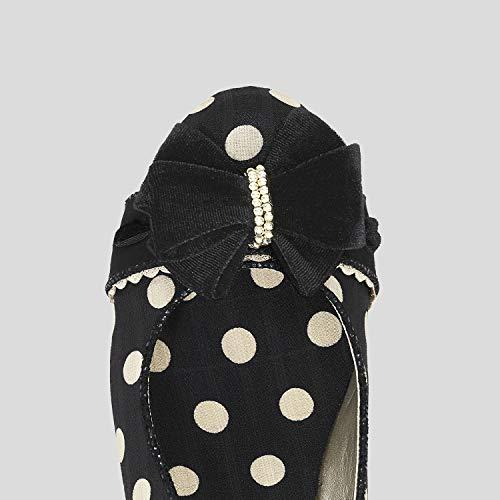 Ruby Shoo Point Noir Femme Compensées Sandales PqwB0xUrWP