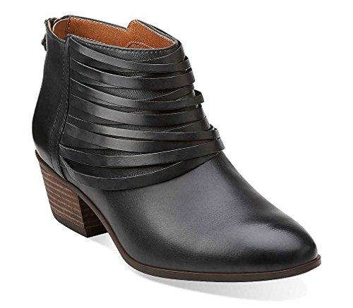 Clarks Spye Celeste Ankle Boots - Black Leather 5 M, Black L