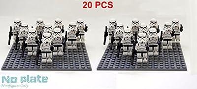 20 pcs Star War White Clone Trooper combat team Minifigure Building Toy US ship