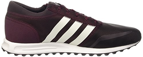 adidas Herren Los Angeles Low-Top Rot (Maroon/Ftwr White/Maroon)