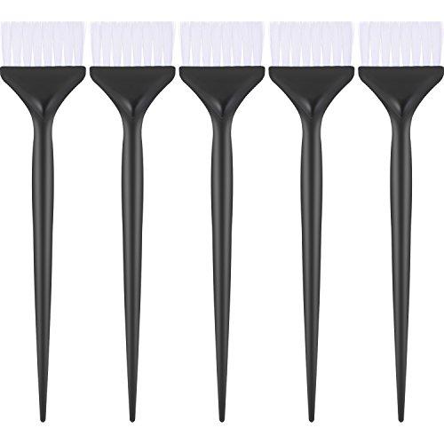 Mudder 5 Pack Hair Dye Coloring Brushes Hair Coloring Dyeing Kit Handle Salon Hair Bleach Tinting DIY Tool (Black)
