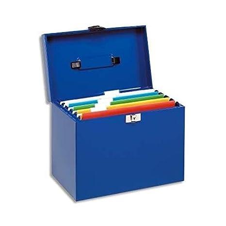 Esselte 11896 - Maleta metálica de archivo con 5 carpetas colgantes A4, color gris (antracita): Amazon.es: Oficina y papelería