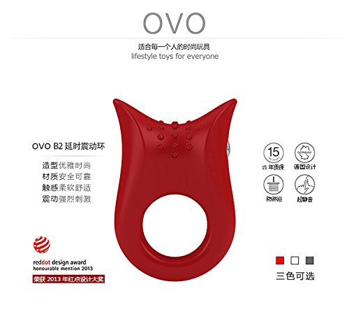 HSMazalea OVO Men Delay Mute Vibrating Cock Ring Waterproof Penis Rings Sex Products Adult Sex Toys for Couples by HSMazalea