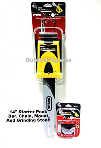 14' Oregon PowerSharp Chainsaw Sharpening Starter Kit For Snapper Chainsaws