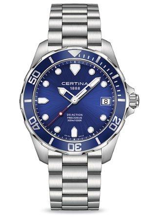 Certina DS Action - 3 Hands Stainless Steel Mens Quartz Watch C0324101104100