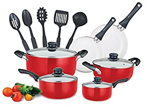 15 piece Ceramic Cookware Set with Stay Cool Handles