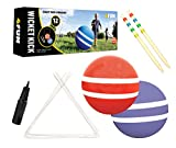 4 FUN WICKET KICK - Giant Kick Ball Croquet Outdoor Games - Great Family Games For Kids, Teens And Adults - Perfect Life Size Fun For Your Lawn, Camping Or Trips To The Beach