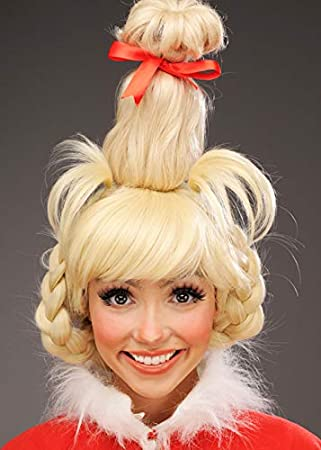 Magic Box Womens The Grinch Style Blonde Cindy Lou Who Wig