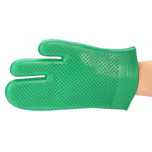 TuffRider Comfy Glove | Horse Riding Equestrian Grooming Rubber Glove | Color - Green