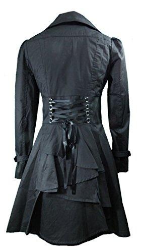 -Rainy Night in Paris- Black Victorian Gothic Corset Vintage Style Jacket (Large) -