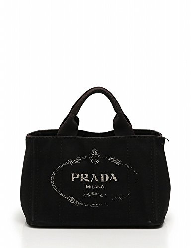 f4dce388be84 Amazon | (プラダ) PRADA トートバッグ ショルダーバッグ カナパ キャンバス 黒 CANAPA 2WAY B2439G 中古 |  PRADA(プラダ) | トートバッグ
