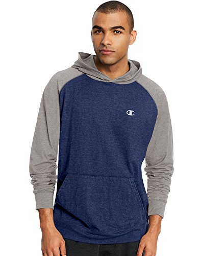 Champion Men's Vapor Cotton Pullover Hoodie, Champ Navy Heather/Oxford Gray, XX-Large
