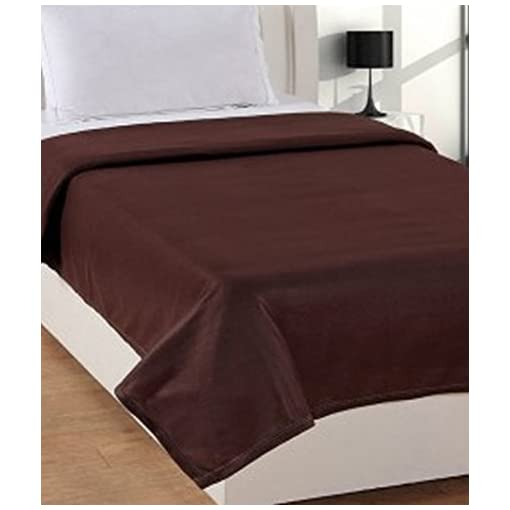 Cozyland Fleece Solid Polyester Double Blanket - Grey
