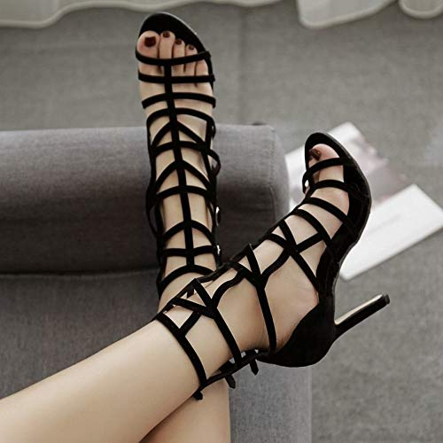 Sandales Bouche De Stiletto Talons Super Black Kervinfendriyun Femmes Creuse Poisson Été Yy4 n0O8kXPw