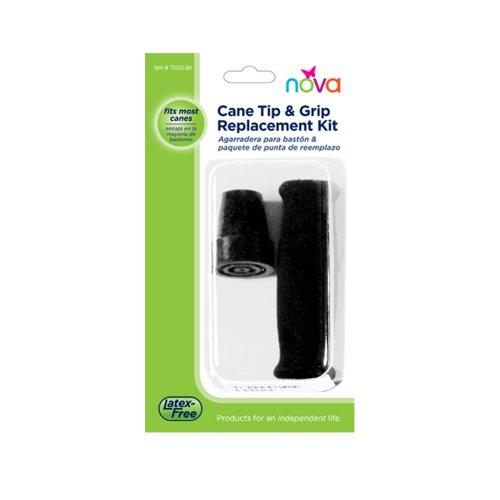 NOVA Medical Products Tip and Grip Replacement Kit, Black