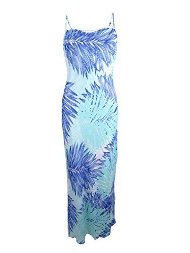 Calvin Klein Tropical s Multi Seaglass Maxi Chiffon Women Dress Print 4Rw4FPq