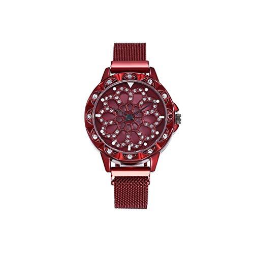 Women's Watch, Magnet Buckle Watch, Milan Watch, Quartz Watch, Wrist Watch, Women's Watch, Smart Watch, Case, Strap, Fossil Watch, Waterproof Watch,-red