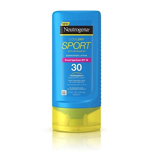Neutrogena Cool Dry Sport Sunscreen Lotion, SPF 30, 5 Fluid Ounce (2 Pack)
