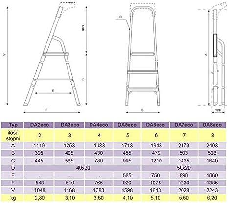 Leiter Aluleiter Stehleiter Haushaltsleiter Klappleiter Aluminium verschiedene Gr/ö/ßen 4 Stufen
