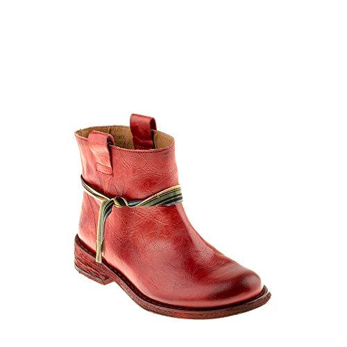 Felmini Zapatos Para Mujer - Enamorarse com Gredo B201 - Botas Classic - Cuero Genuino - Rojo Rojo