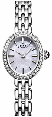 Rotary Women's LB05050/07 Cocktail Analog Display Quartz Silver Watch