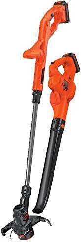 BLACK+DECKER LCC222 20V MAX Lithium String Trimmer/Edger, Sweeper Plus 2 Battery Combo Kit, 10&