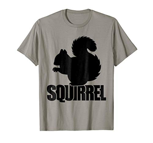 Squirrel Silhouette Shirt - Awesome Squirrel Gift T-Shirt