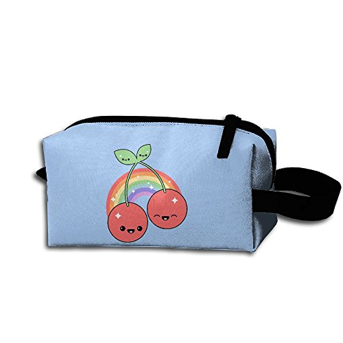 Ming Horse Cute Cherry Light Rainbow Smile Travel&home Portable Make-up Receive Bag Hand Cosmetic Bag With Hanging