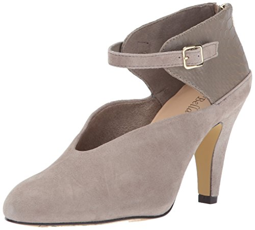 Bella Vita Women's Neve Dress Pump, Stone Kid Suede/Crocodile, 10 M US