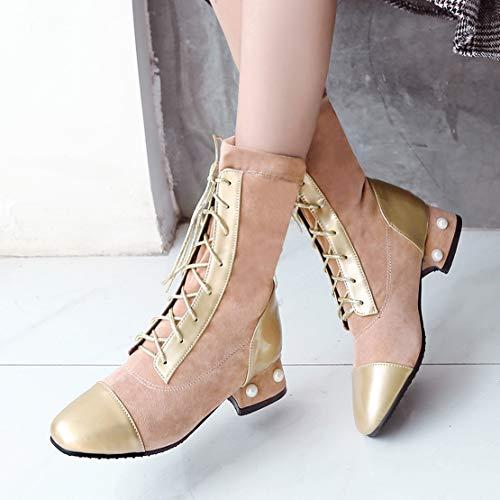 Aiyoumei Stivali Classici Stivali Donna Rosa Rosa Aiyoumei Classici Donna qxgwHqC