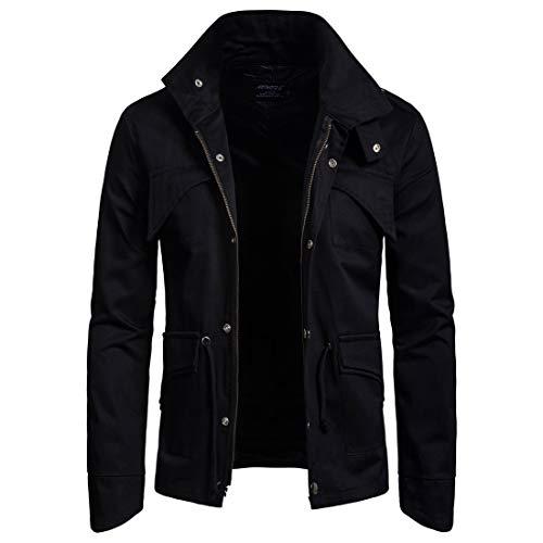 Nero Nero Nero uomo collare collare uomo da Euow giacca stand stand stand casual Giacca da giacca RBwAExqP7