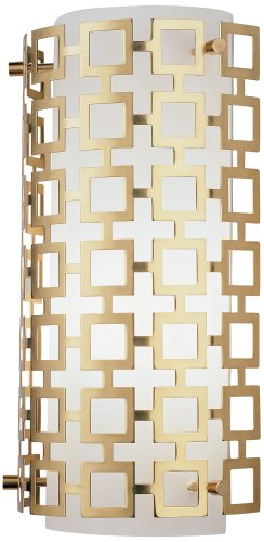 Jonathan Adler Parker Wall Sconce in Antique Brass (Robert Abbey Contemporary Sconce)