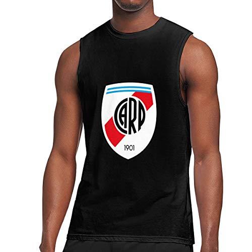 LOSFA Sleeveless T Shirt, River Plate FC Workout Tank Tops Gym Bodybuilding T-Shirts Black