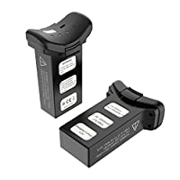 Holyton 2PCS Modular 7.4V 2500mAh Li-ion Batteries with USB Charging Cable for Holy Stone RC HS100 GPS Quadcopter Drone by Holyton