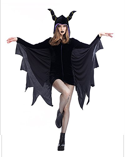 Female Devil Costume Pictures (Sexy Devil Halloween Costumes For Women Bat Skirt Cute Soft And Comfortable Vampire Special Dress For Girl Carnival Outfit)