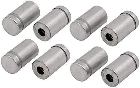 CHENBIN-BB 12mmx22mm金属広告はネジグラススタンドオフ8本を修正します