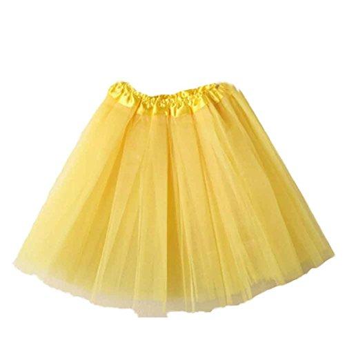 Layered Jaune vintage Ballet Jupon 50 Femmes en Lace annes Fathoit Organza Tutu tulle Mini Rockabilly Jupe gAwxqvABZ