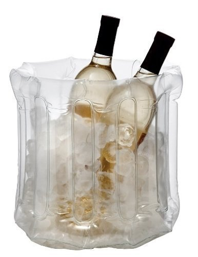 9 Inch Clear Plastic Pop Up Inflatable Multi Bottle Wine Cooler