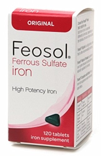 Feosol Ferrous Sulfate Iron, Original, Tablets 120 ea (Pack of 4)