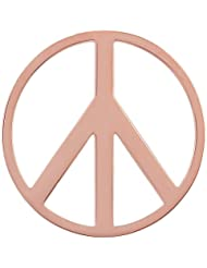 MS Koins Stainless Steel Coin Peace Sign Rose Gold Plated Fits Our Coin Locket System, 30mm Diameter