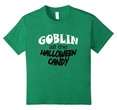 Goblin Green Kids Costume (Kids Goblin All the Halloween Candy shirt 6 Kelly)